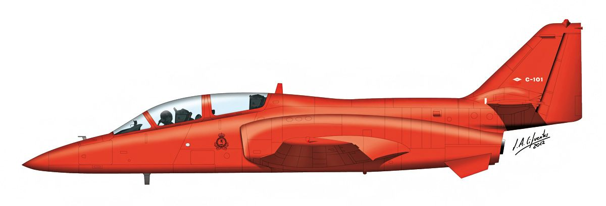 C-101 «Aviojet» – Rojo anuncio