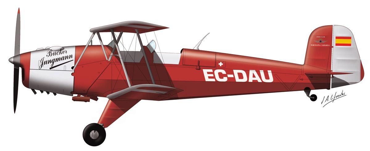 Bücker – Fundació Parc Aeronautic de Catalunya – EC-DAU