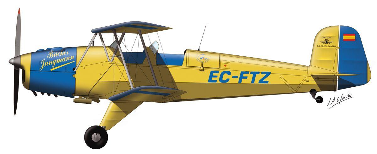 Bücker – Fundació Parc Aeronautic de Catalunya – EC-FTZ