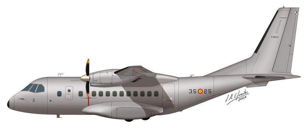 CN-235 – Ala 35 (gris)