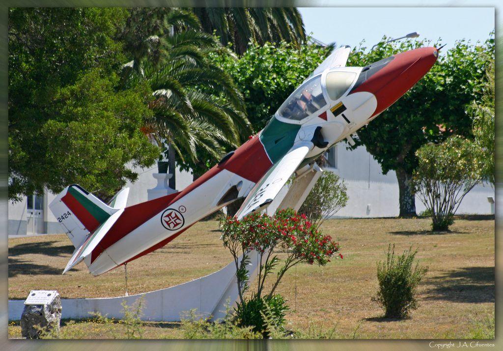 """Cessna T-37C de la patrulla """"Asas de Portugal""""."""