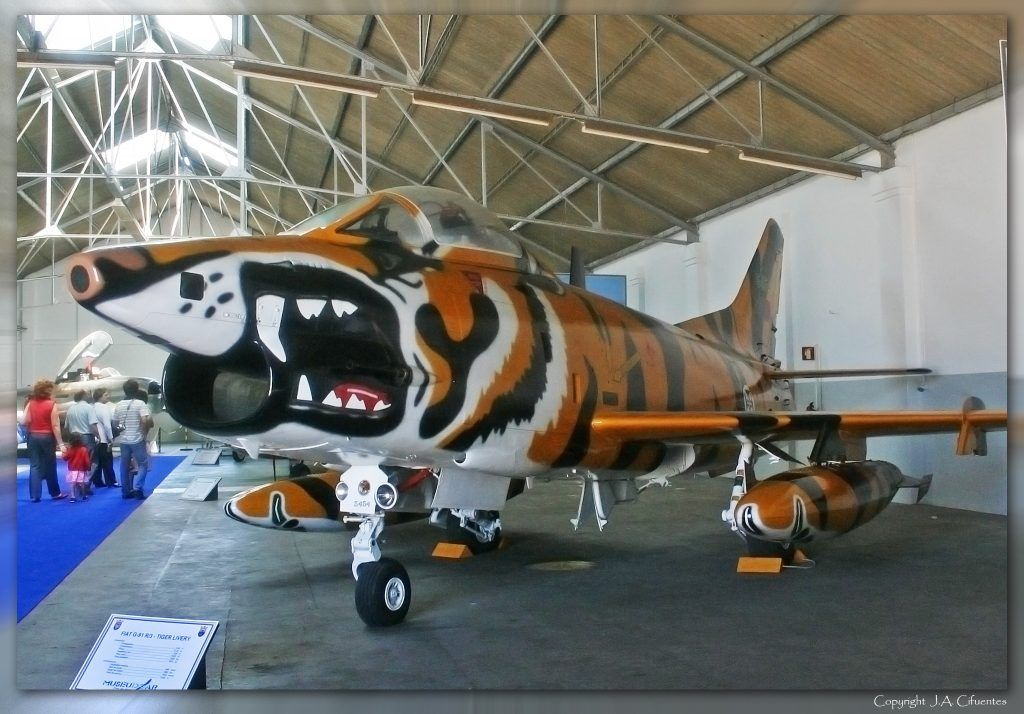 """Fiat G-91 R.4 """"Tigre de Bissalanca""""."""