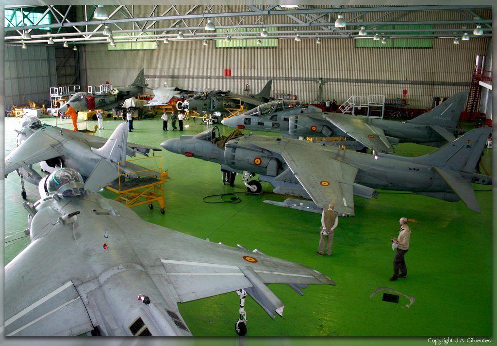 Harrier de la Novena Escuadrilla de la Armada.