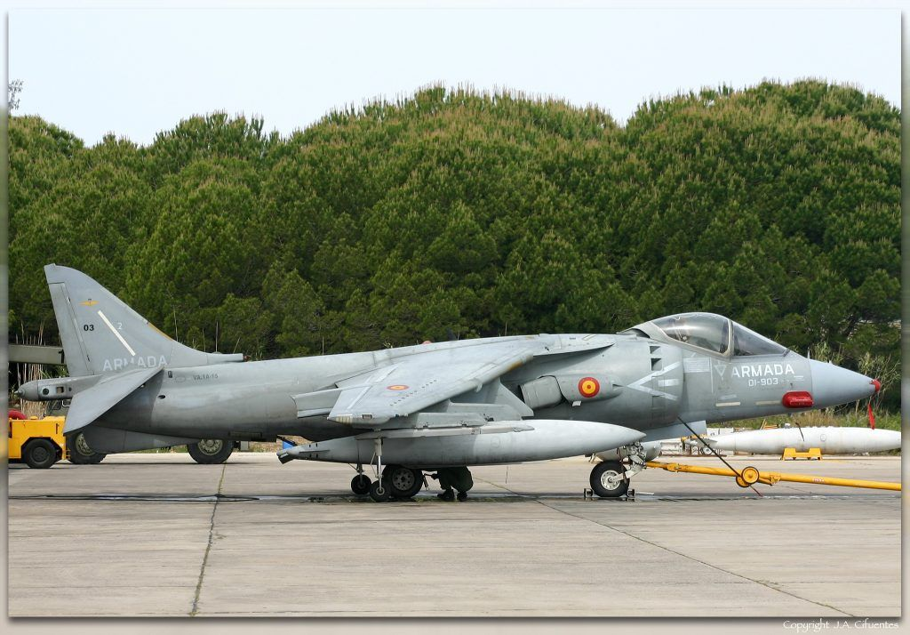 Harrier II Plus de la Novena Escuadrilla de la Armada.