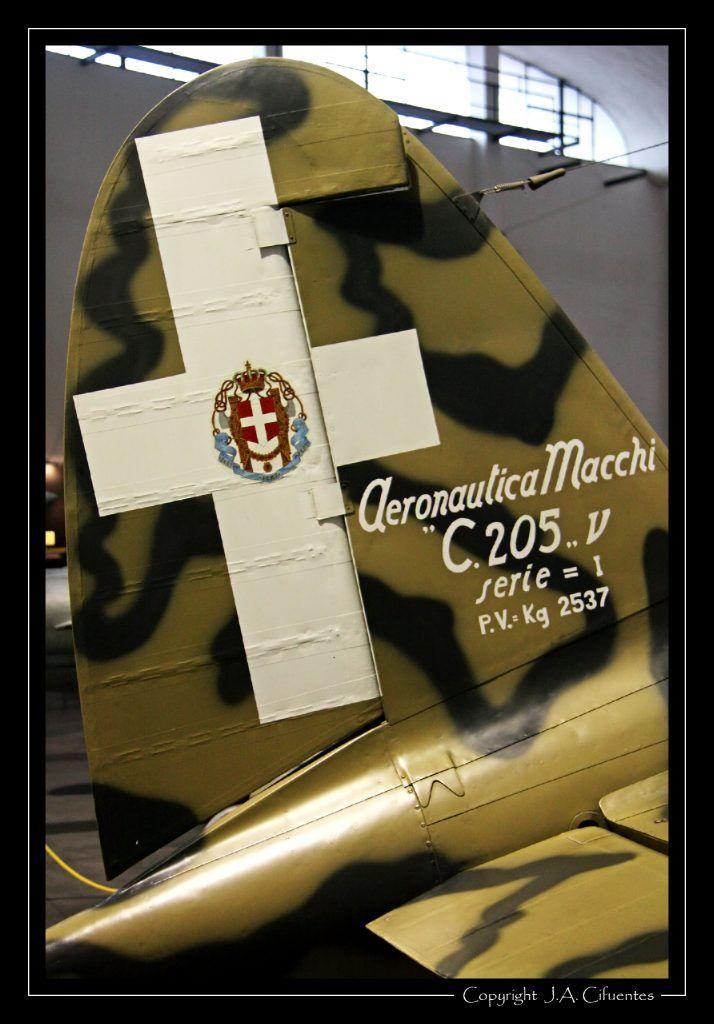 Macchi C.205 Veltro de la Regia Aeronautica.