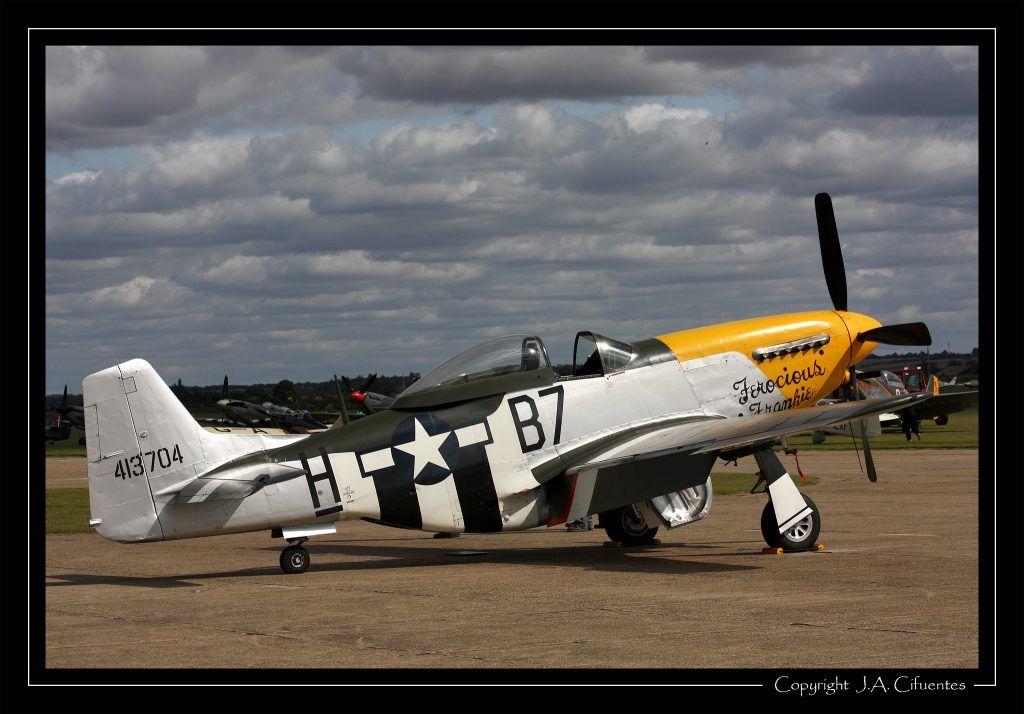 "North American P-51 Mustang ""Ferocious Frankie""."