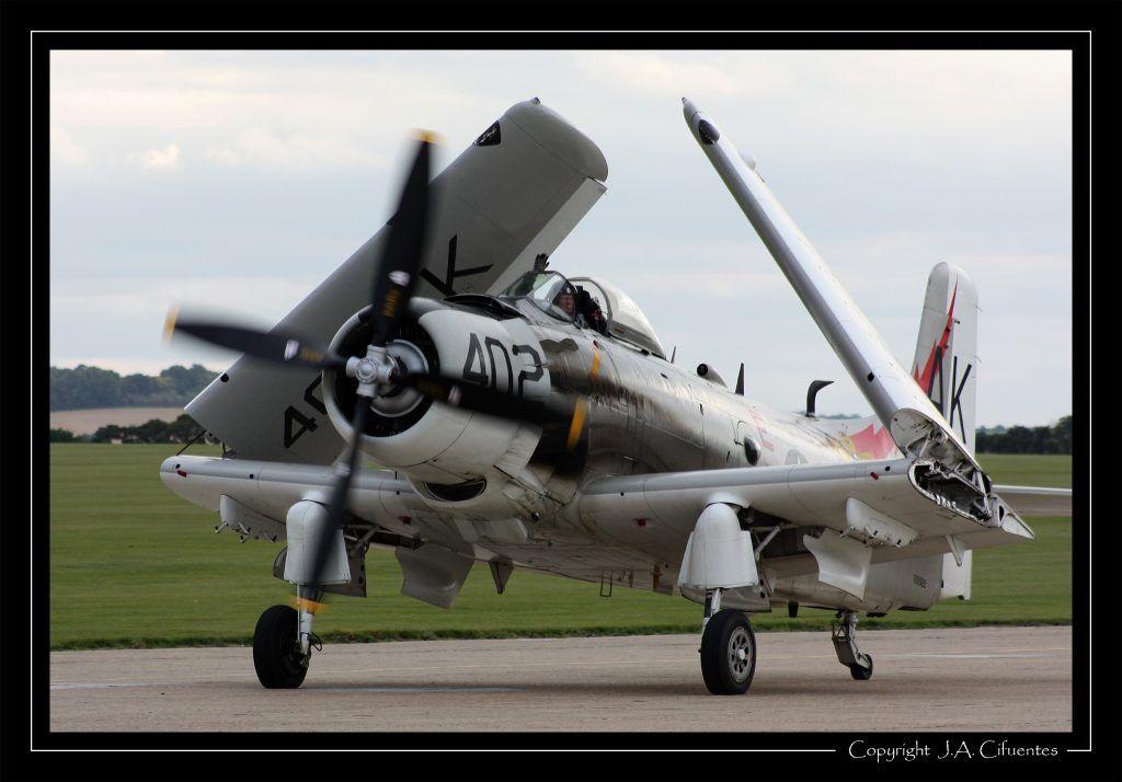 """Douglas A-1D """"Skyrider""""."""