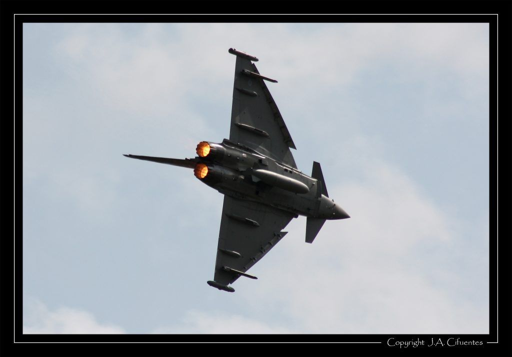 "Eurofighter ""Typhoon"" de la RAF."