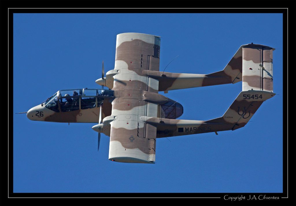 North American Rockwell OV-10B Bronco (F-AZKM).