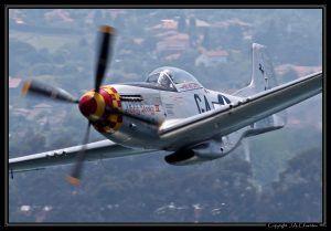 """North American P-51D Mustang (F-AZSB) """"Nooky Booky IV""""."""