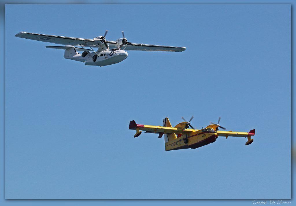 Consolidated PBY-5 Catalina y Canadair CL-215T Grupo 43 del Ejército del Aire