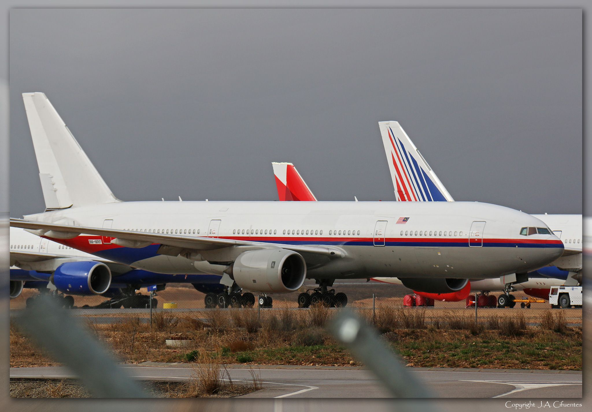 Boeing 777-2H6/ER (9M-MFR) de Malaysia Airlines.