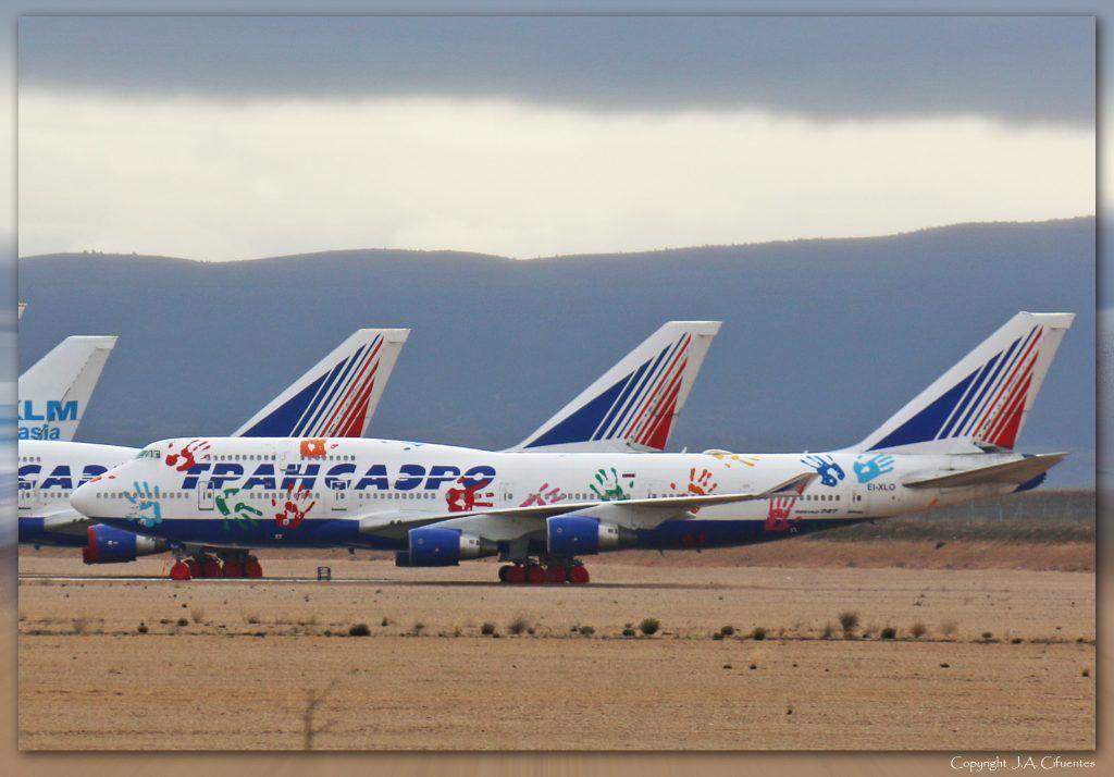 Boeing 747-412 (EI-XLO) de Transaero Airlines.