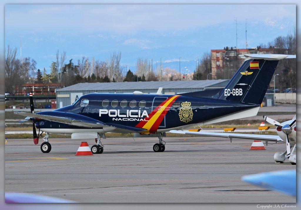 Beech Super King Air B200 (EC-GBB) de la Policia Nacional.