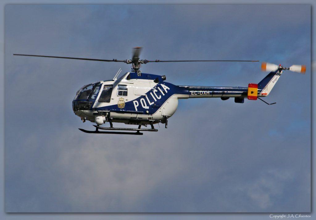 MBB Bö105-CB (EC-DXH) de la Policia Nacional.