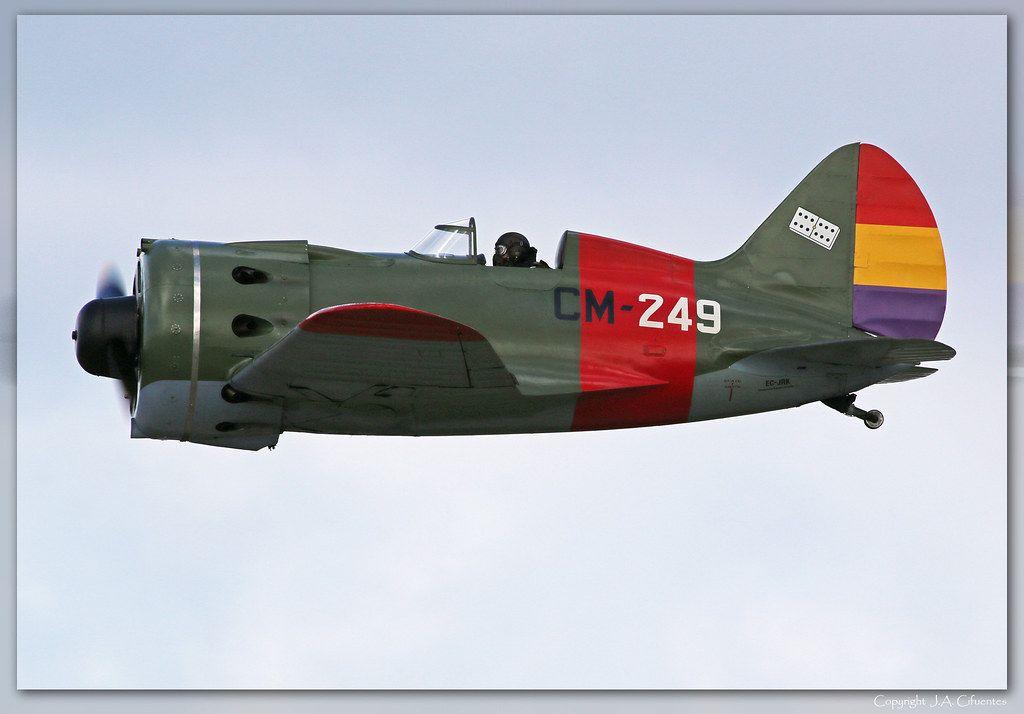 "Polikarpov I-16 ""Rata"" o ""Mosca""."