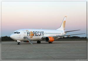 Boeing 737-436 (9H-ZAZ) de Air Horizon.