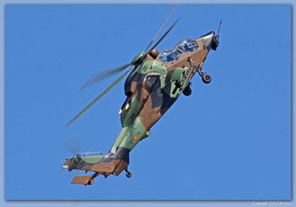 Eurocopter EC665 Tigre de las Fuerzas Aeromóviles del Ejercito de Tierra (FAMET).