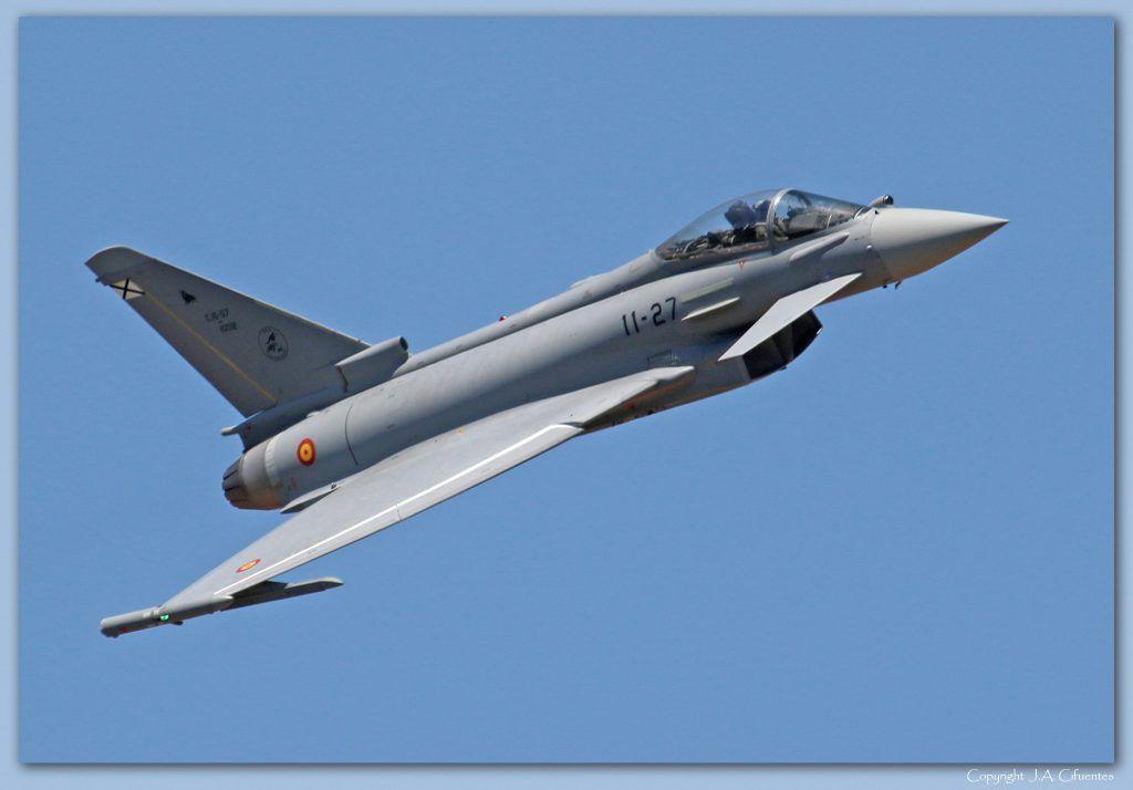 Eurofighter Typhoon del Ejército del Aire.