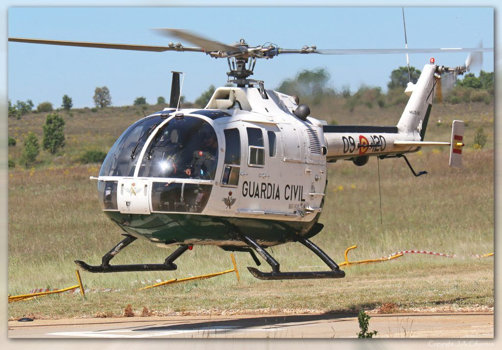 MBB Bö105-CBS4 (HU.15-92 / 09-120) de la Guardia Civil.