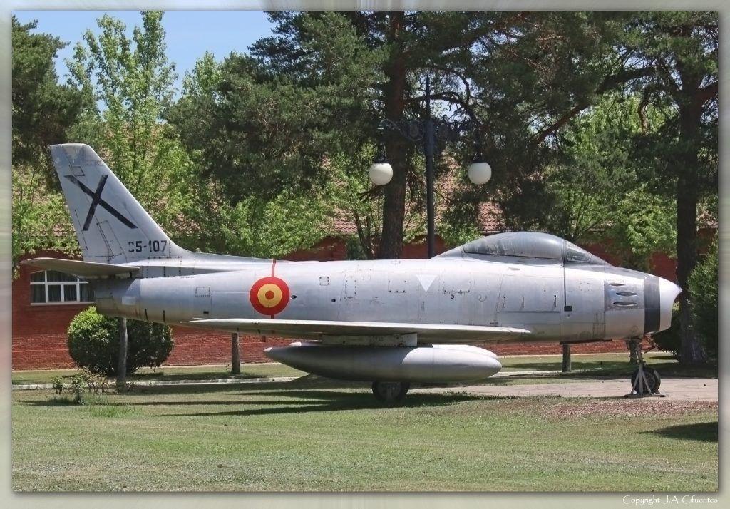North American F-86 Sabre del Ejército del Aire.