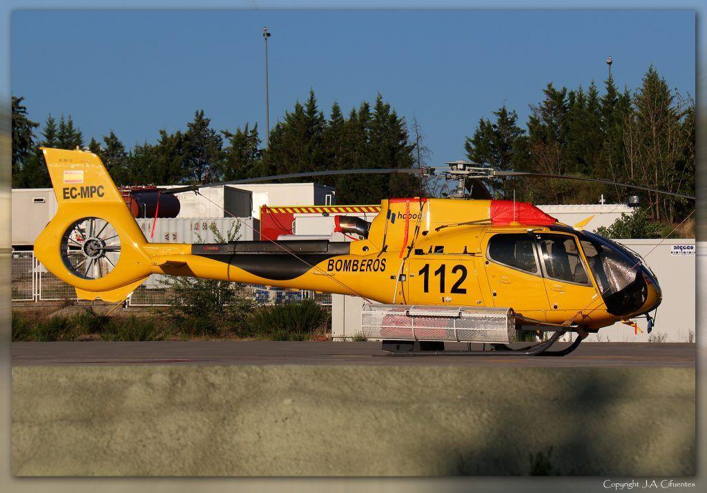 Eurocopter EC-130T2 (EC-MPC) de Habock. Parque Central de Bomberos de Las Rozas, Madrid (LELR).