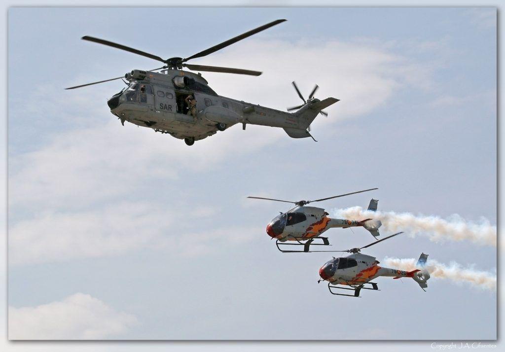 Aerospatiale AS 332B Super Puma HD.21 del Ala 48 del Ejército del Aire.