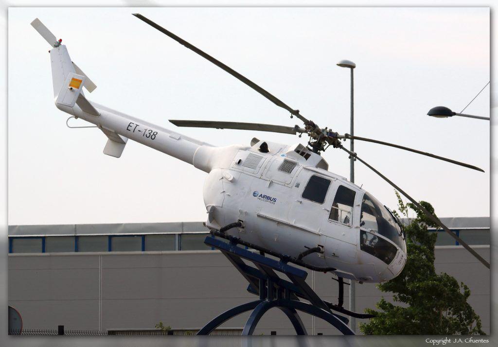 Monumento Bo-105, factoría Eurocopter de Albacete.