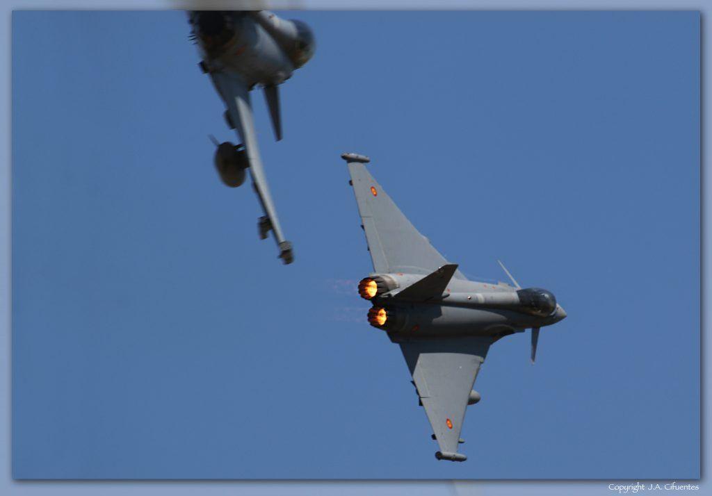 EF-2000 EFA Eurofighter Typhoon del Ala 11 del Ejercito del Aire.