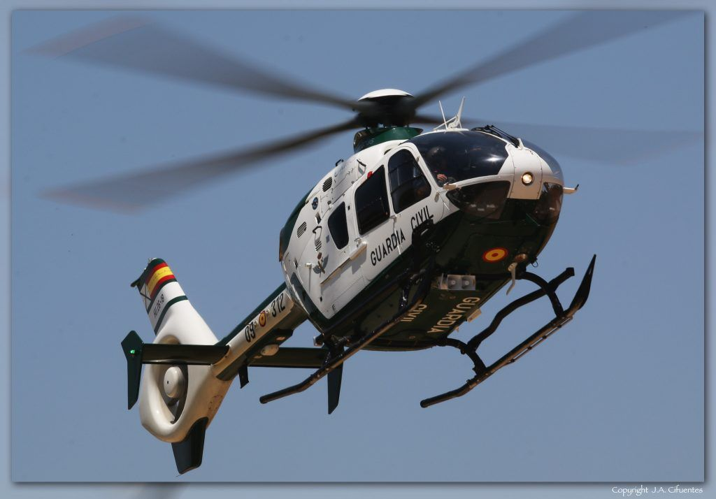 Eurocopter EC135 del Servicio Aéreo de la Guardia Civil.