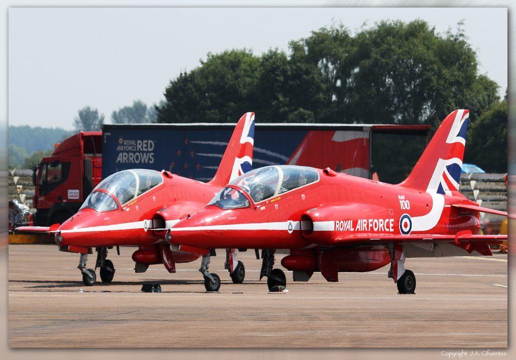 BAE Systems Hawk T1/T1A de los Red Arrows.