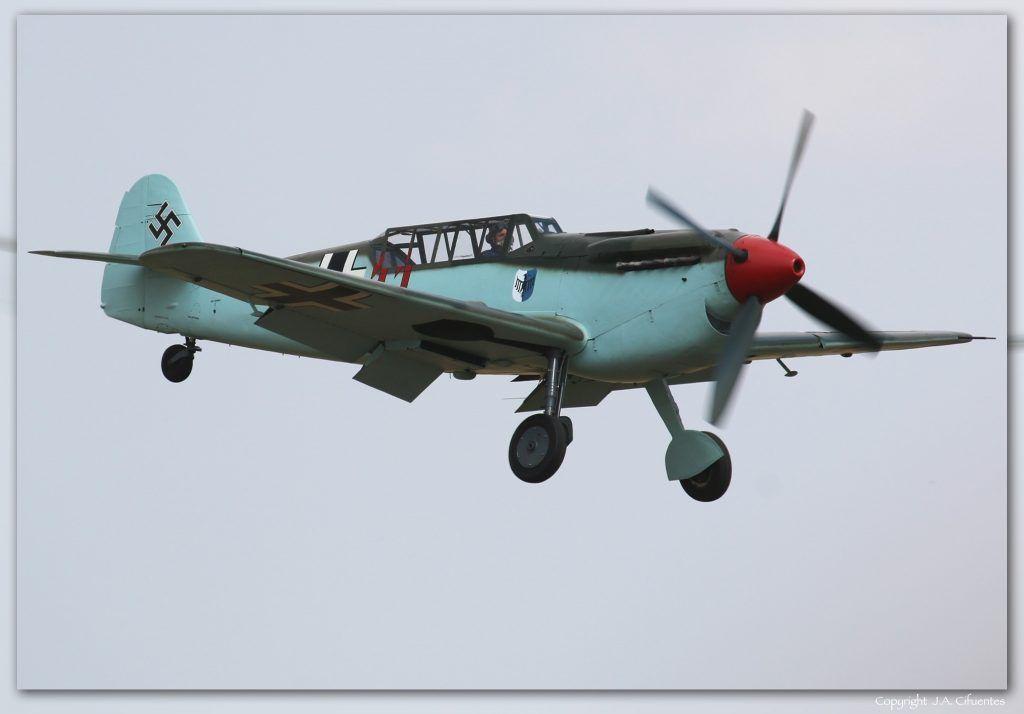 "Hispano HA-1112-M4L Buchon ""Red 11″ (G-AWHC)."