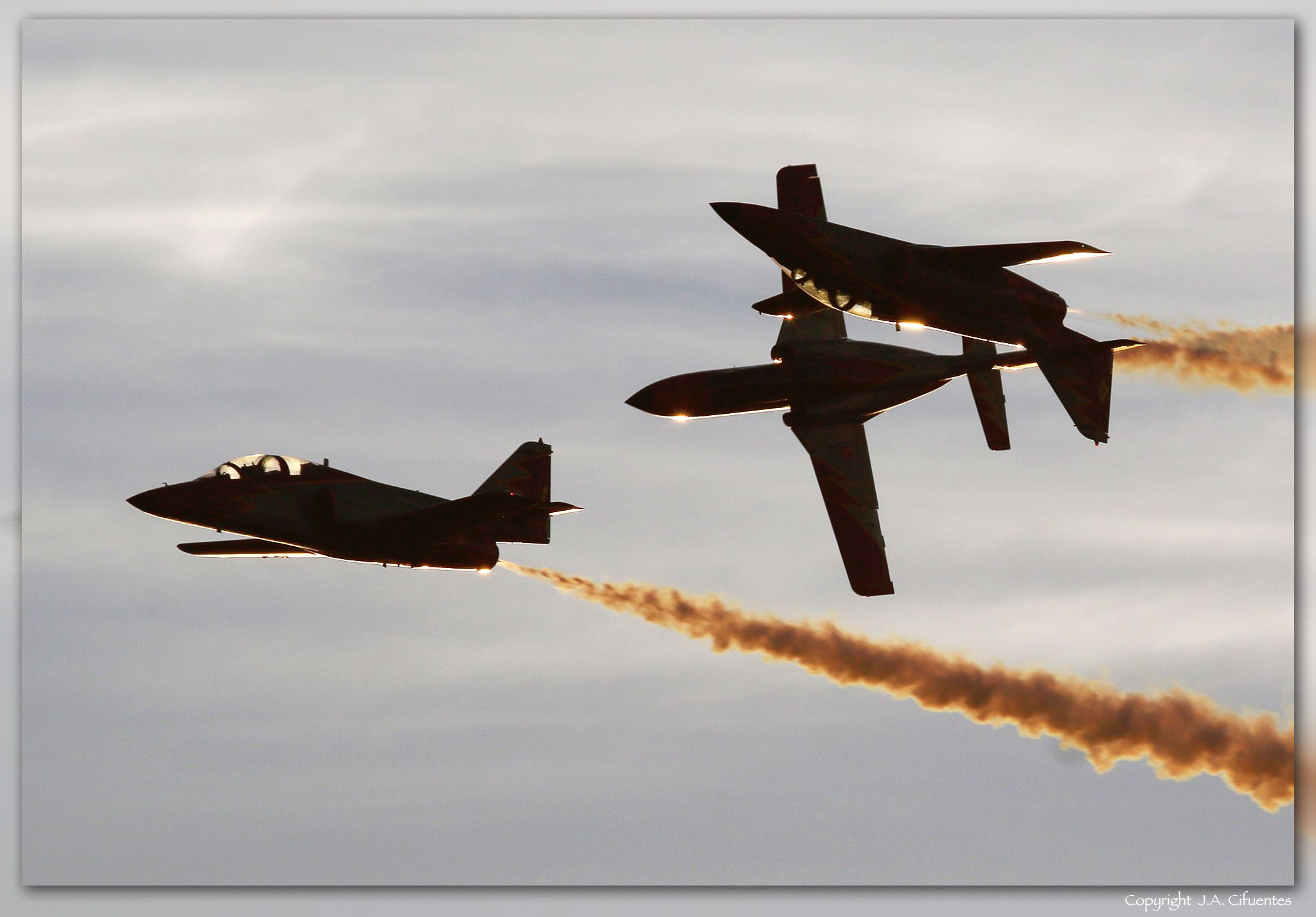 "Patrulla Águila con sus CASA C-101 ""Aviojet"""