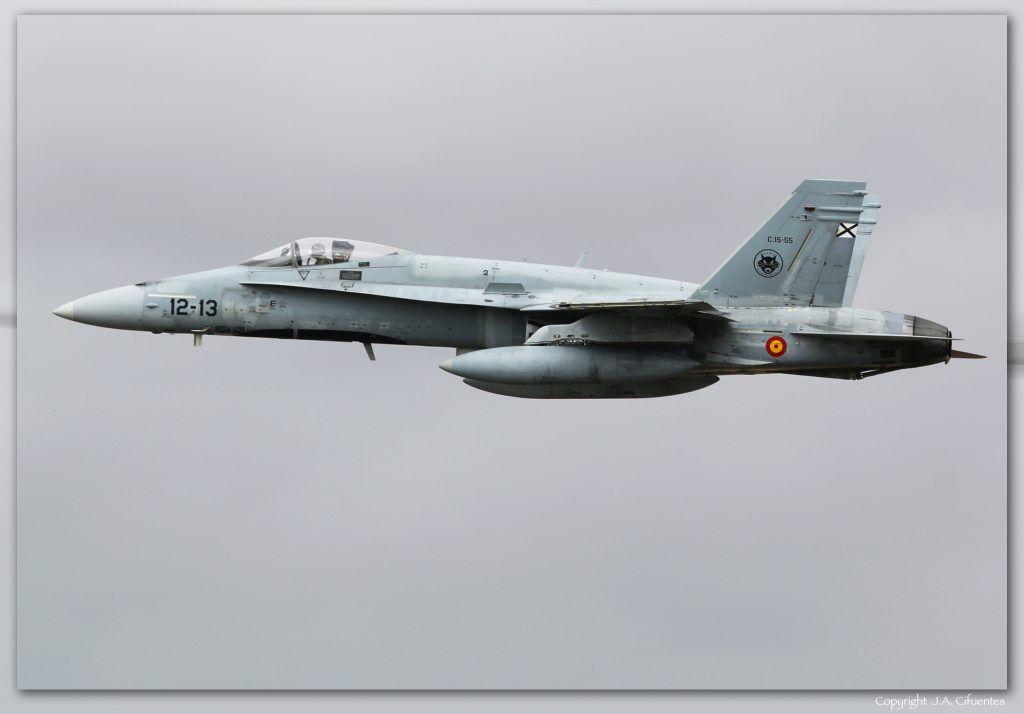 C.15-55 / 12-13 (cn 818/A575) McDonnell Douglas EF-18A+ del Ejercito del Aire.
