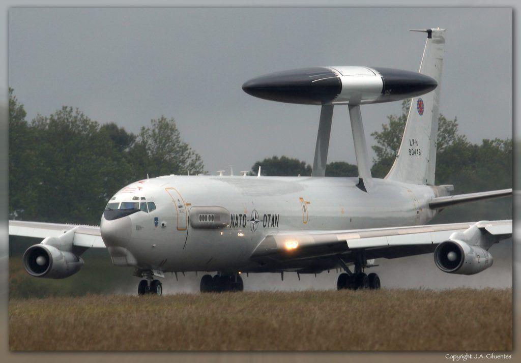 Boeing E-3A Sentry (AWACS) del Flying Squadron 1 de la OTAN.