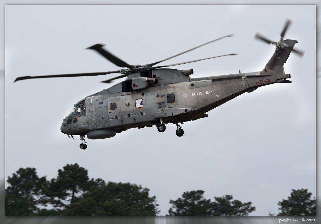 Merlin HM. MK2 del 814 Naval Air Squadron de la Royal Navy.