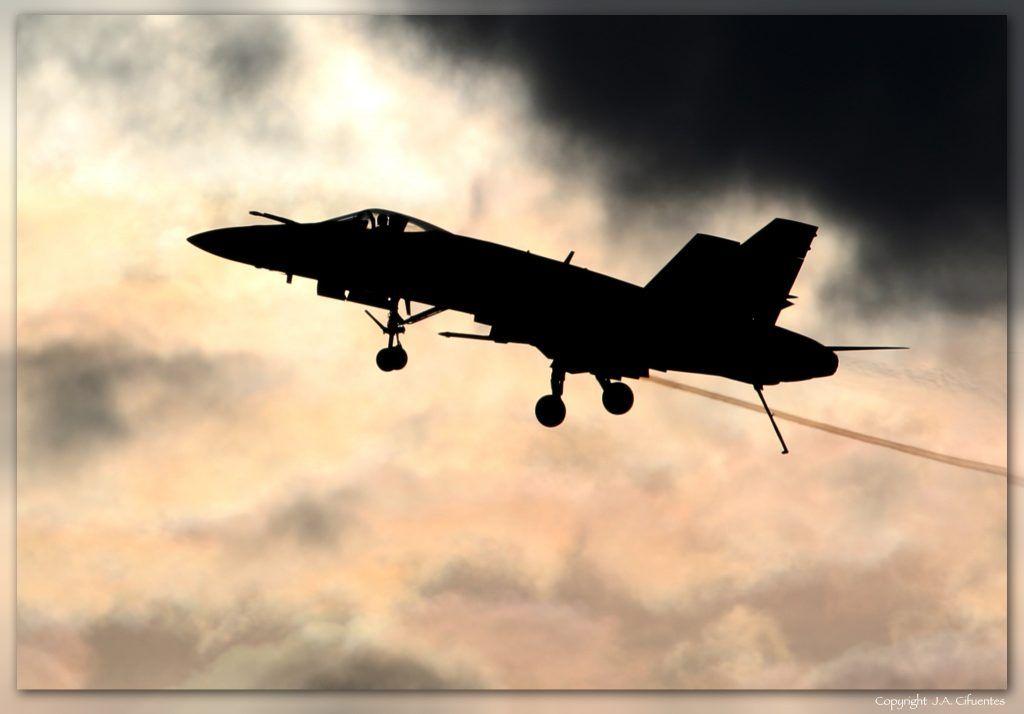 McDonnell Douglas F-18 Hornet del Ala 31 del Ejercito del Aire.