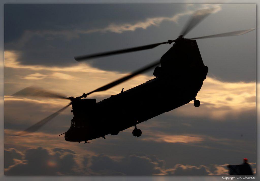 Boeing CH-47 Chinook de las FAMET del Ejercito de Tierra.