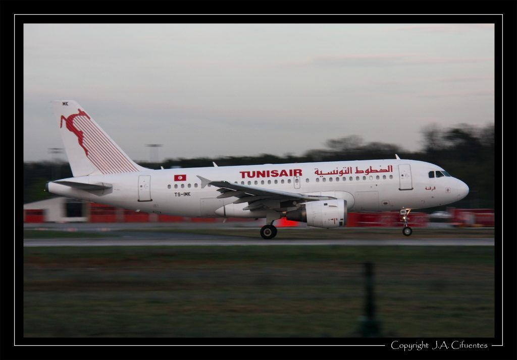 Airbus A319-114 (TS-IMK) de Tunisair.