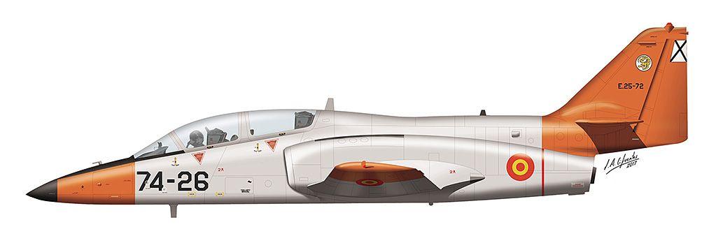 """CASA C-101 """"Aviojet"""" del Grupo de Escuelas de Matacán (GRUEMA)."""