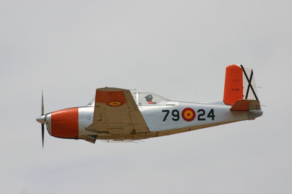 Beech A45 (T34-A) Mentor de la Fundació Parc Aeronautic de Catalunya.
