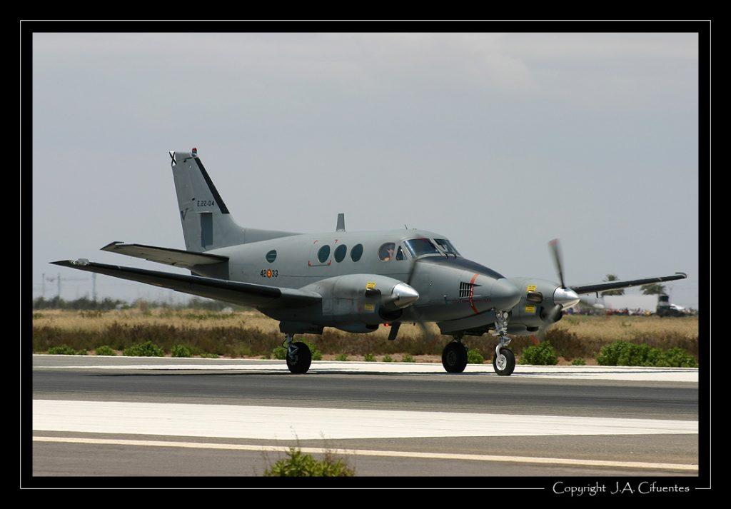 Beech C90 King Air del Ejercito del Aire.