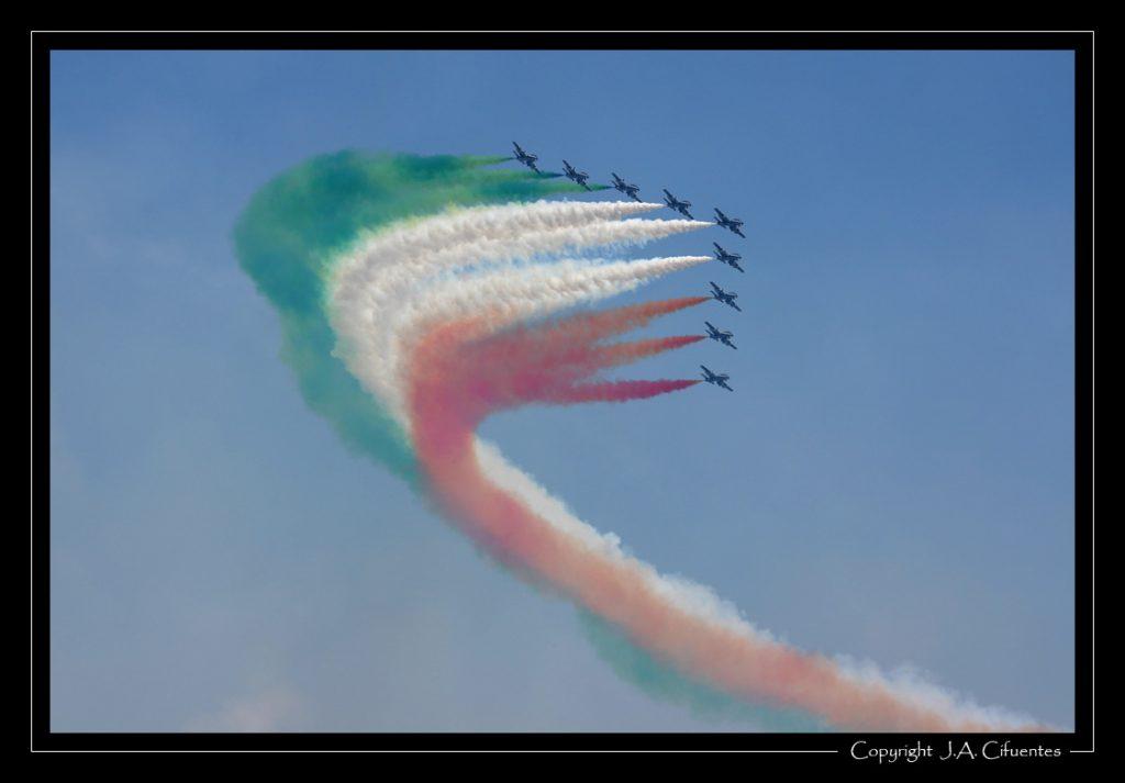 Aermachi MB.339PAN de los Frecce Tricolori de la Fuerza Aérea Italiana.