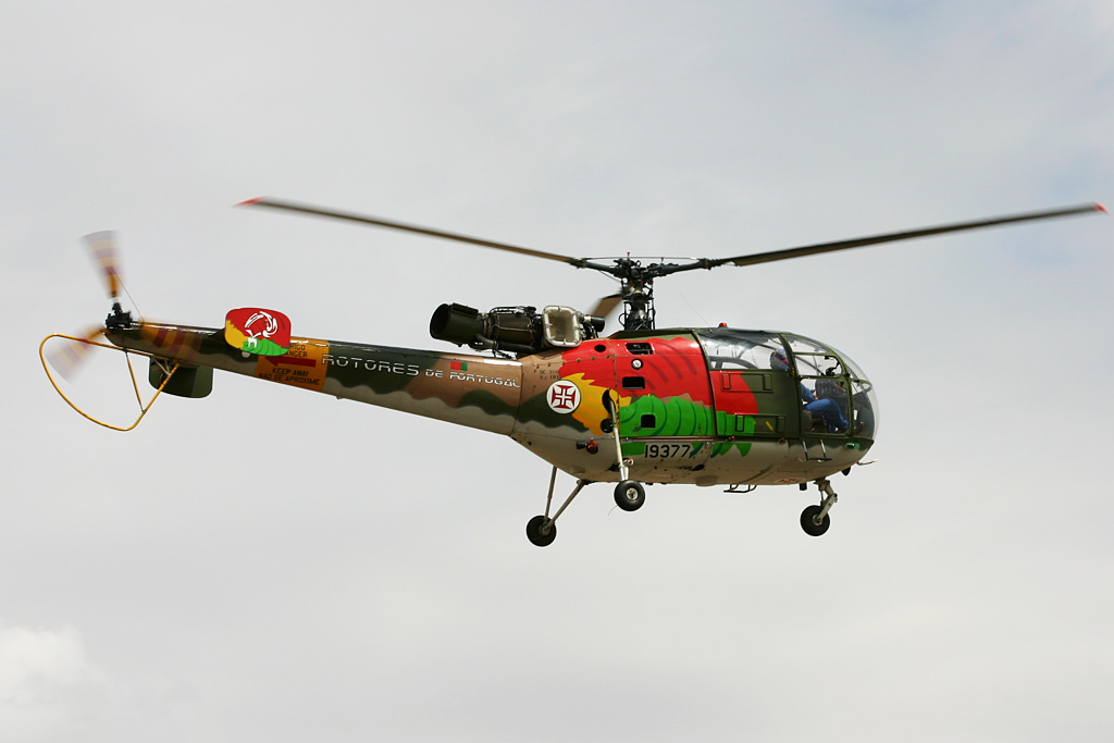 "Sudaviation - SE 3160 Alouette III de ""Rotores de Portugal"" de la Fuerza Aérea Portuguesa."