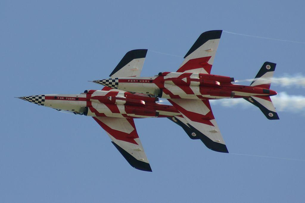 """Dassault/Dornier Alpha-Jet """"Asas de Portugal"""" de la Fuerza Aérea Portuguesa."""