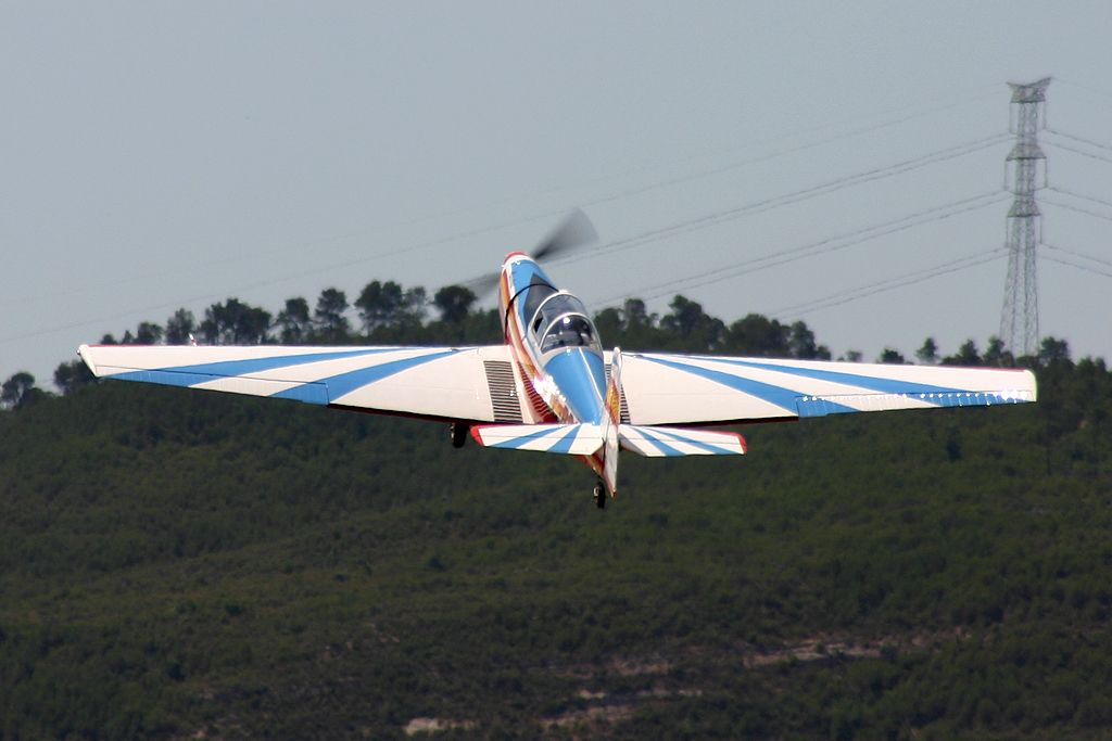 Moravan N.P. Otrokovice Zlin Z526-A Akrobat de la Fundació Parc Aeronautic de Catalunya.