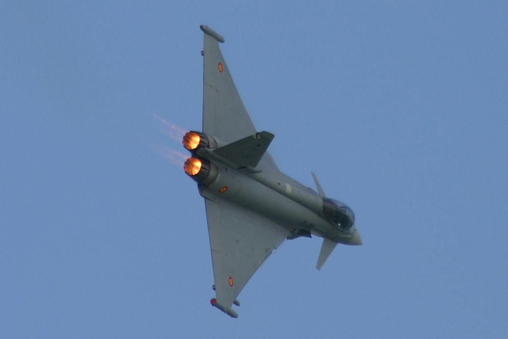 "Eurofighter ""Typhoon"" del Ala 11 del Ejercito del Aire."