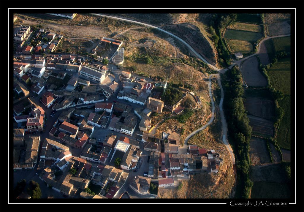 Vista aérea de Botorrita.