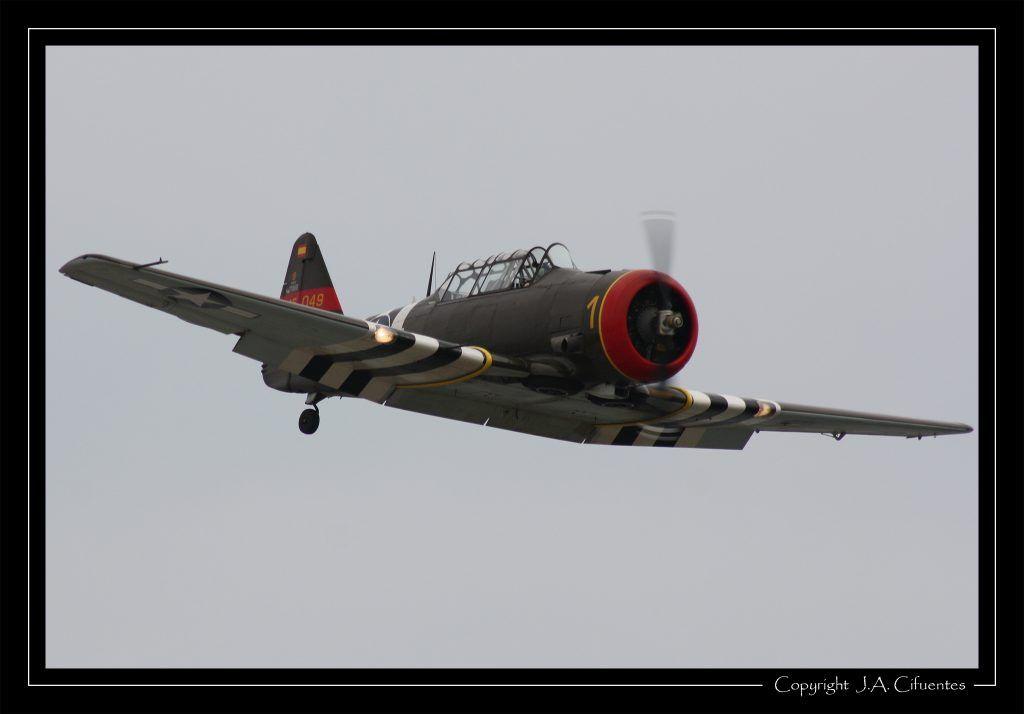 North American T6-G Texan de la Fundación Aérea de la Comunidad Valenciana.