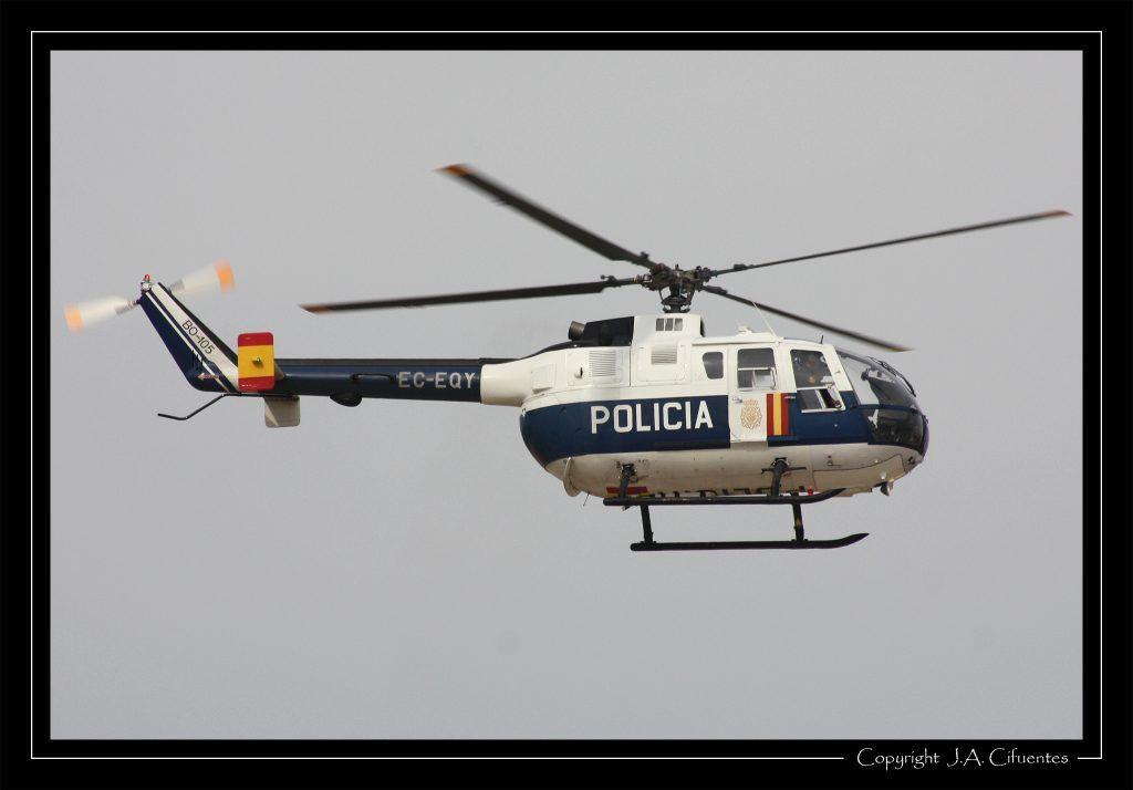 MBB Bölkow Bö105-CB de la Dirección General de la Policia.